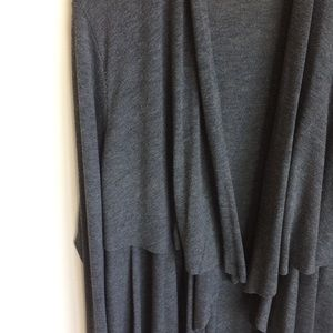 Sweet Pea Sweaters - Sweet Pea by Stacy Fraci Gray Ruffled Sweater SzXL